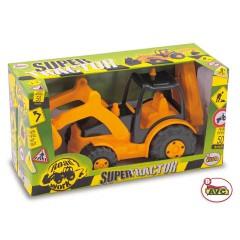 Camiones. Tractor con Pala y Retro Road Works en caja.Ref.5195