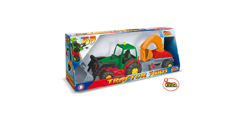 Toys trucks. Tractor with trailer and retro in box.Item.5198