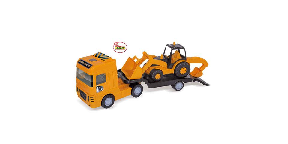 Camiones. Camión Maxi Trailer + Plataforma y Tractor Road Works.Ref.5352