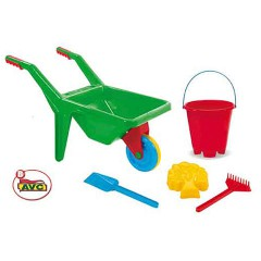 Toys Beach & Outdoor. Wheel Barrow and beach set.Item.5011