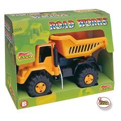 Camiones. Camión volquete Road Works en caja.Ref.5105
