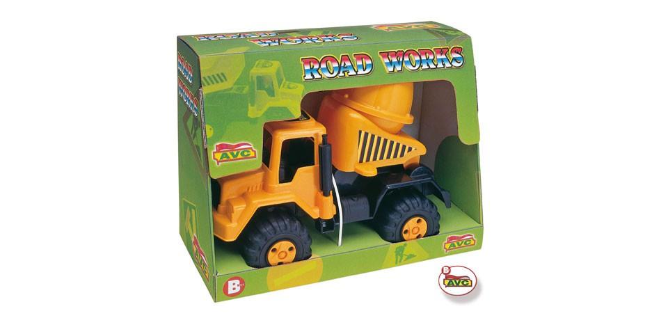 Camiones. Camión hormigonera Road Works en caja.Ref.5106