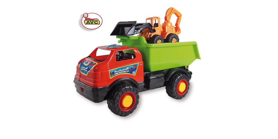 Camiones. Camión Súper Lorry y excavadora retro. Ref.5155