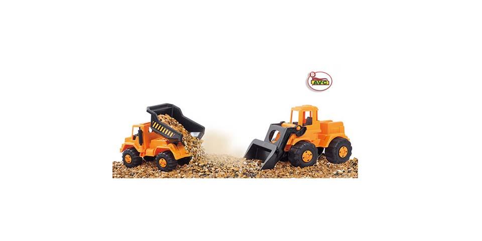 Camiones de juguete. Camión y excavadora. Ref. 5107