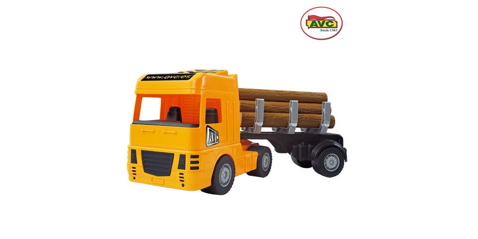 Camiones. Camión remolque con troncos Ref.5360